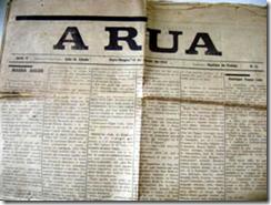 Foto da capa do jornal que conta a história do fundador do Inter