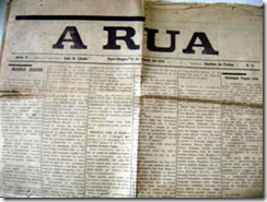 Foto da capa do jornal que conta a história do fundador do Inter