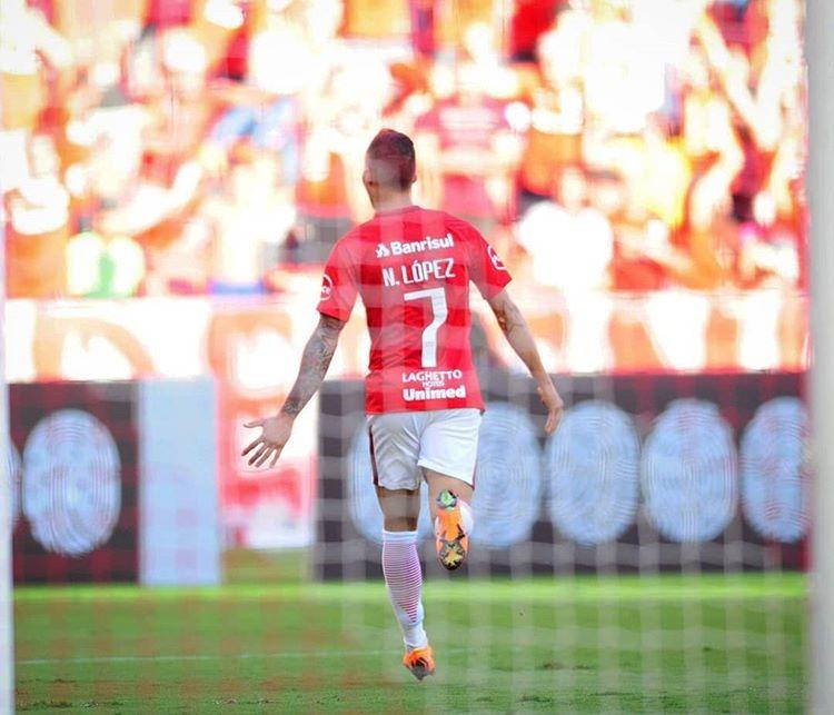 Nico López marca o primeiro gol Colorado (Foto/Ricardo Duarte)