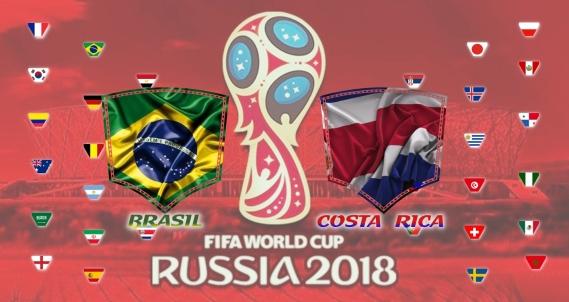 Brasil vs Costa Rica - Copa do Mundo 2018 - 2ª rodada - Fase de Grupos