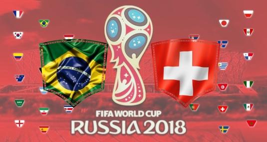 Brasil vs Suiça - Copa do Mundo 2018 - fase de grupo
