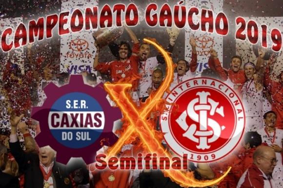 Caxias vs Internacional - Gauchão 2019 - 1ª jogo das semifinais